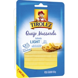 [048486] QUEIJO MUSSARELA LIGHT FATIADO TIROLEZ 150G