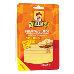 [048485] QUEIJO PRATO LIGHT FATIADO TIROLEZ 150G